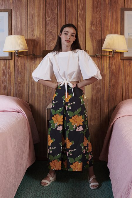WHiT Sun Pant - Navy Hermosa Floral