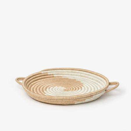 Azizi Zera Serving Tray- White/Tea