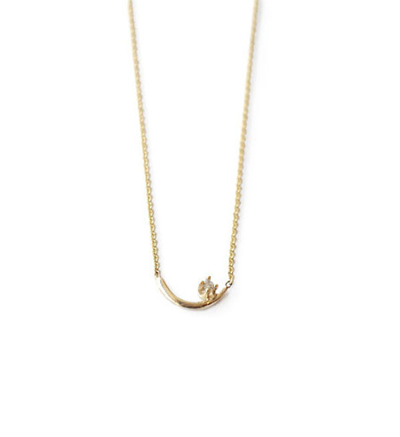 WWAKE White Diamond Arc Lineage Necklace