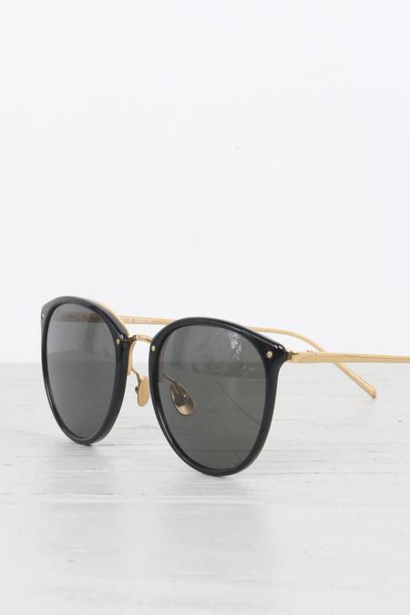 Linda Farrow Oversized Round Glasses in Black