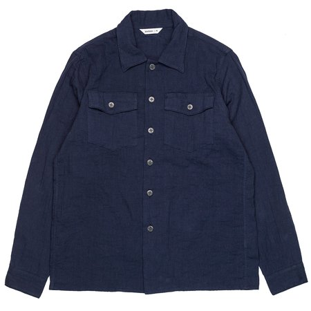 3Sixteen Gauze Fatigue Overshirt - Navy