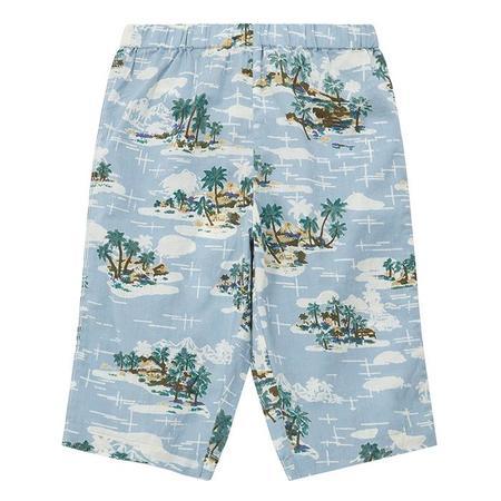 kids Bonton Baby Futur Pants - Vintage Print Blue
