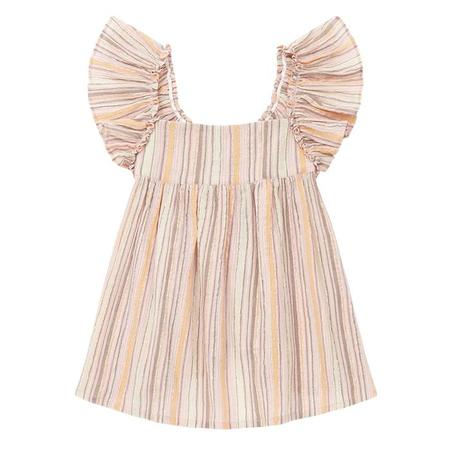 kids Bonton Child Alamba Blouse - Pink/Brown Stripes