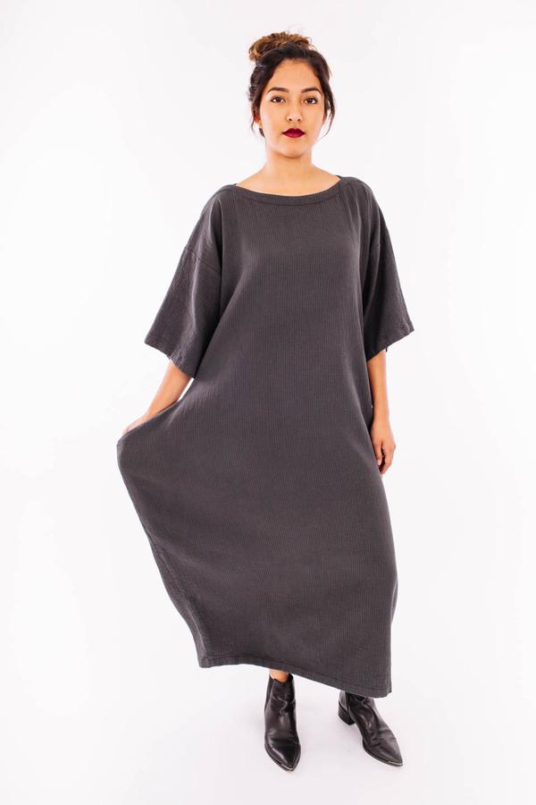 Black Crane Quilted Box Dress
