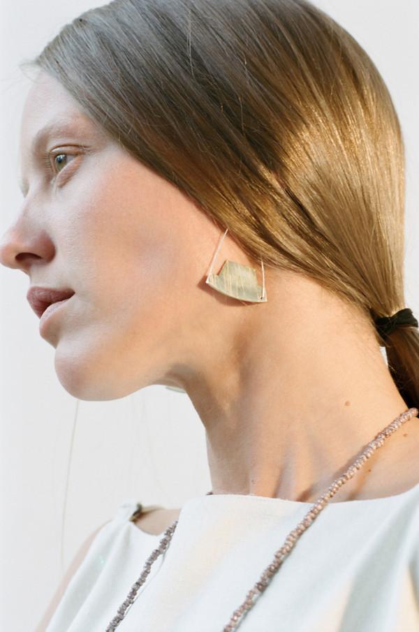 Erin Considine Arch Hoop Earrings in Brass