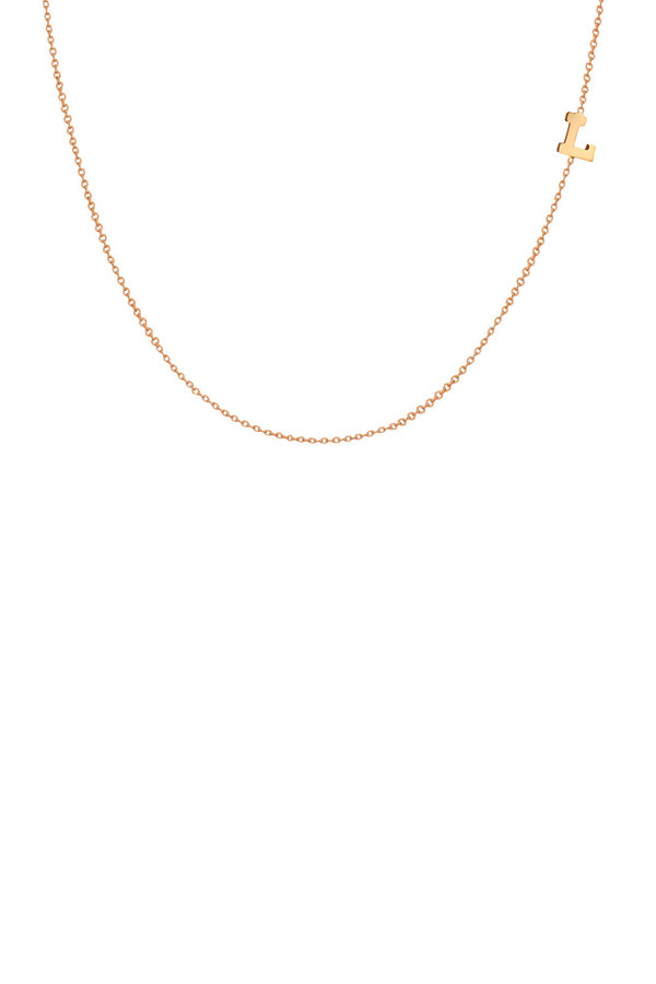 Letters By Zoe - Gold Side Initial Necklace