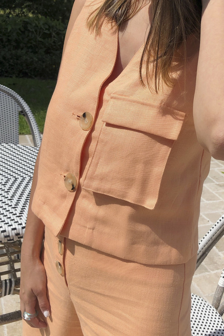Paloma Wool Sabina Vest - Light Peach