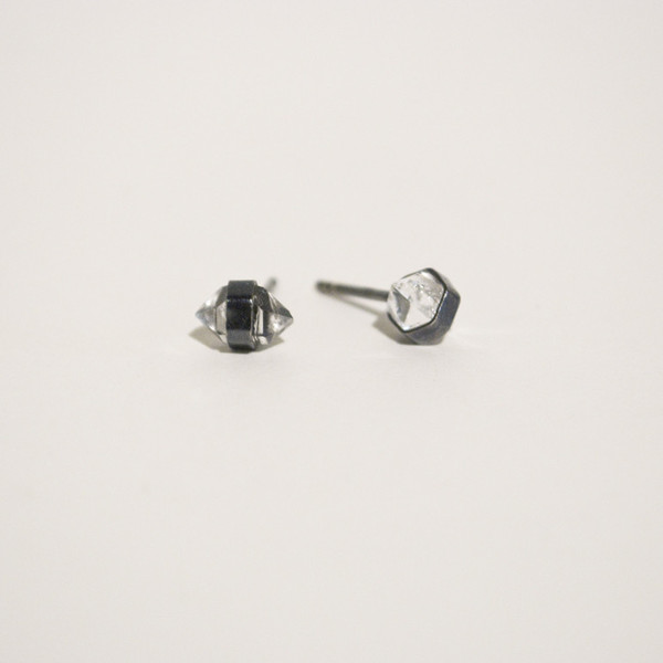 BLTN Herkimer Diamond Studs - Gold or Silver
