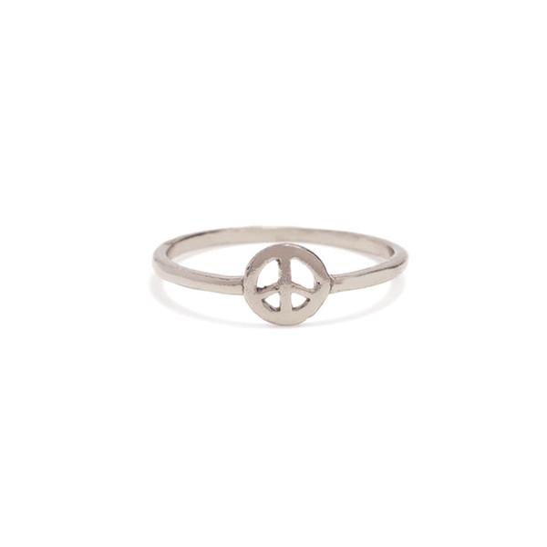 Bing Bang NYC Peace Ring - Yellow Gold or Silver