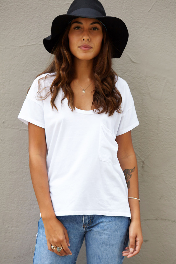 Bobi Scoop Neck T Shirt