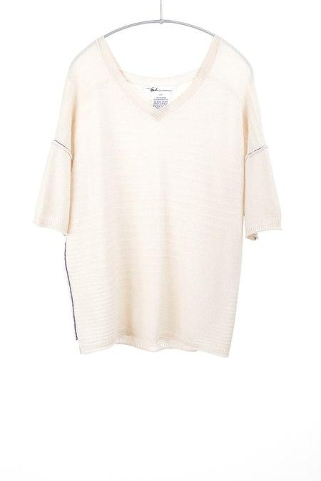 Paychi cashmere v neck sweater - creme