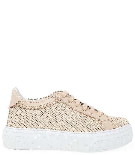 Casadei Leather Lace up Sneaker - ROSA