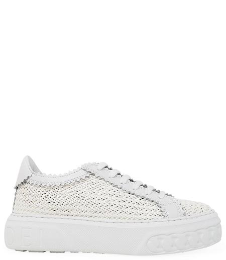 Casadei Leather Lace Up Sneaker - BIANCO