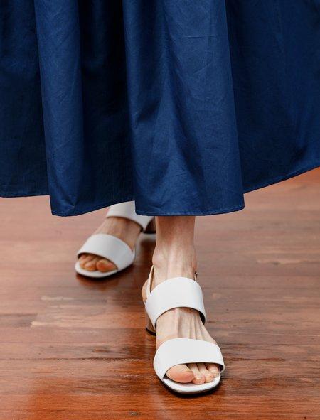 Robert Clergerie Leonie Double Strap Sandal - White
