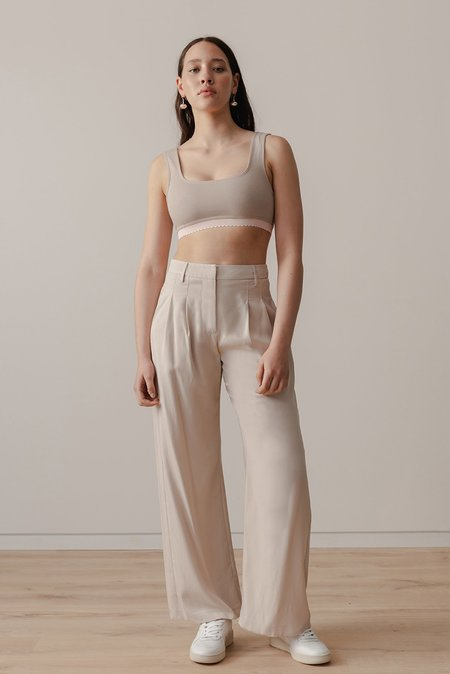 LOCLAIRE Reefs Pant - Earl Grey