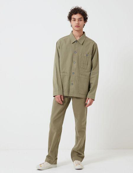 Nigel Cabourn Cotton Herringbone British Army Jacket  - Army Green