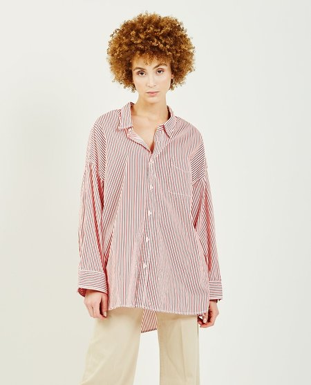 DENIMIST Button Front Shirt - Red