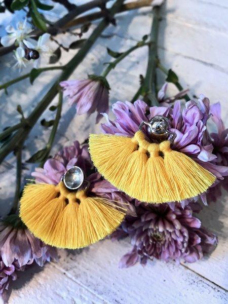 Ora-C Odrey Earrings - Silver/Yellow
