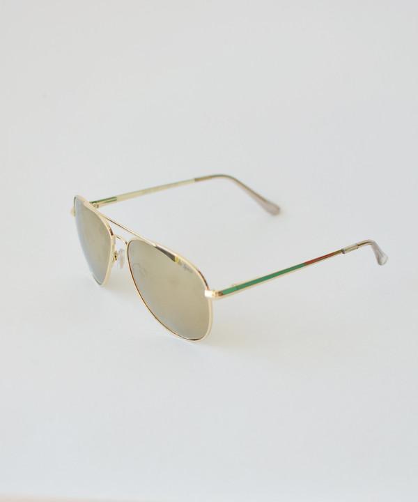 Le Specs Gold Drop Top Sunglasses