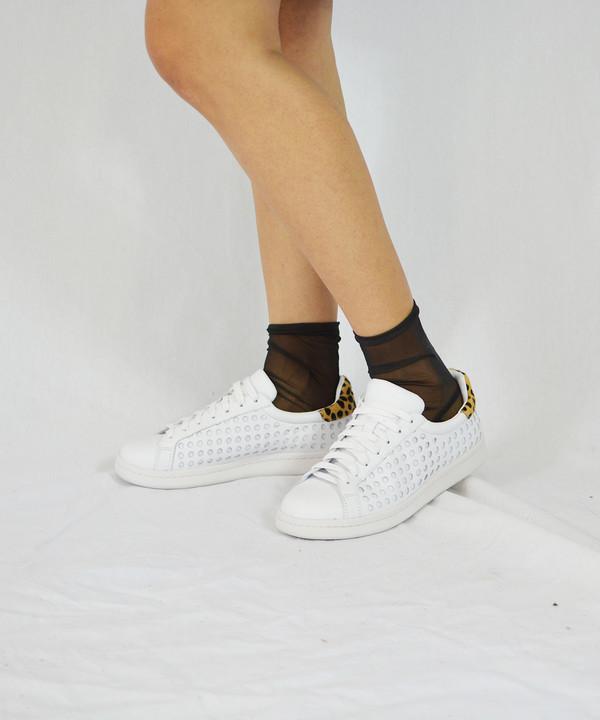 Loeffler Randall Zora Perforated Cheetah Sneakers
