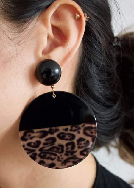 Alexandrine Paris Nairobi Nightfall earrings - Leopard