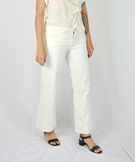 Objects Without Meaning White Flare Jeans
