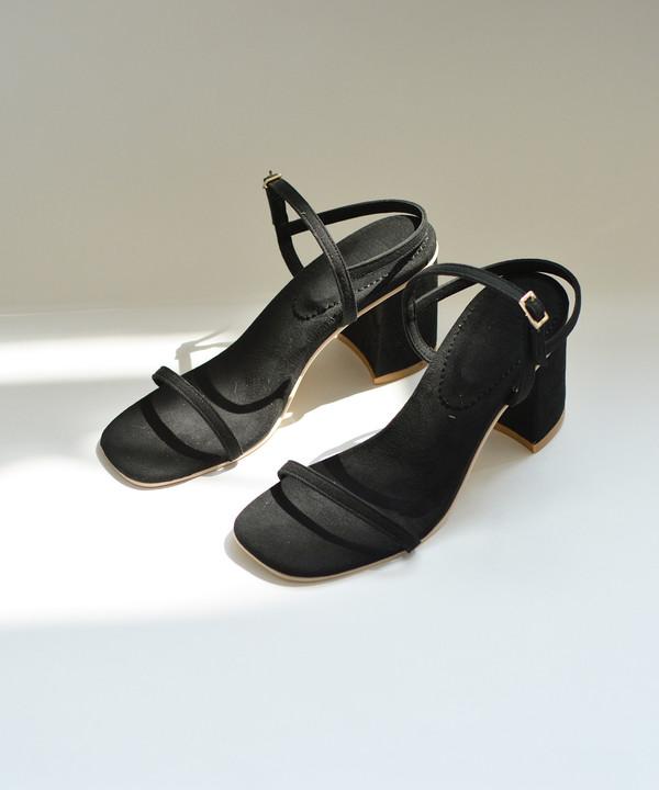 Rafa Black Simple Sandal