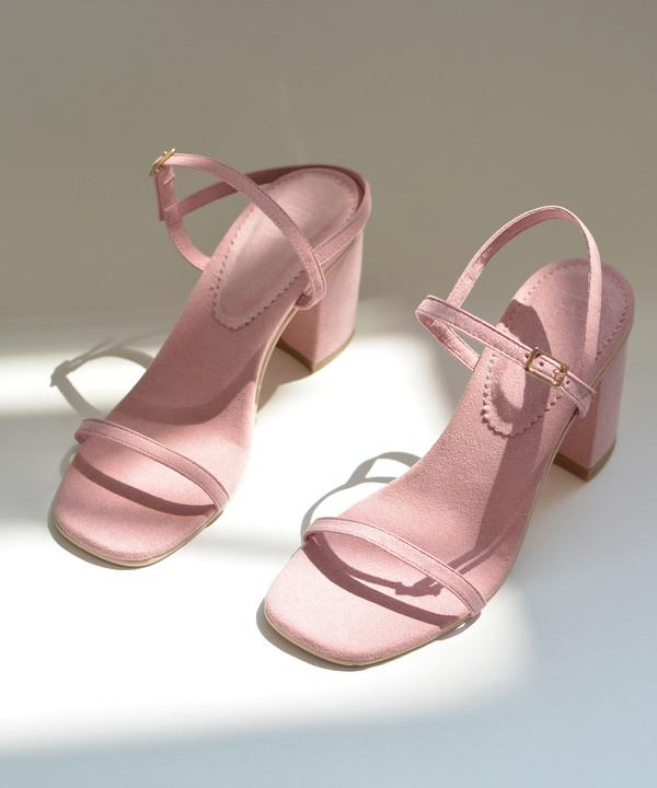 Rafa The Simple Sandal in Peony