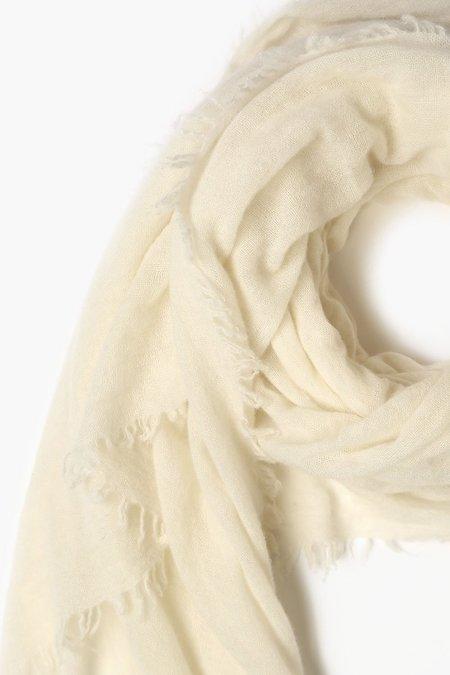 Chan Luu 100% Cashmere Scarf - White