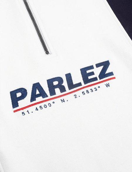 Parlez Fife Half Zip Sweat - Navy Blue