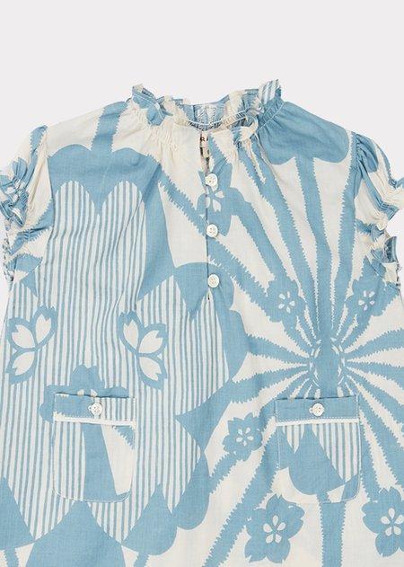 Kids Caramel Notting Hill Baby Dress - Blue Flower Print