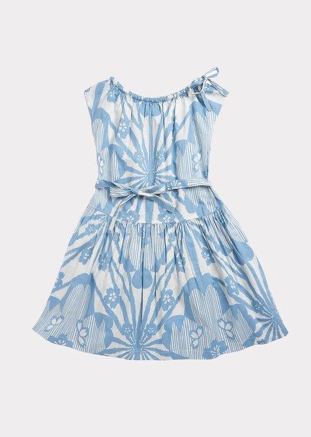 Kids Caramel Notting Hill Dress - Blue Flower Print