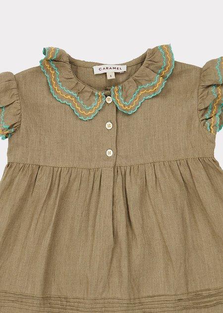 Kids Caramel Sloane Square Baby Dress - Sage Green