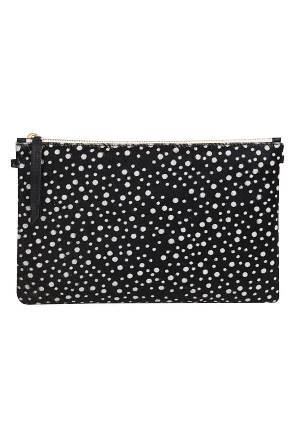 1951 Maison Francaise - Pochette Clutch Bag - Black Spot Print