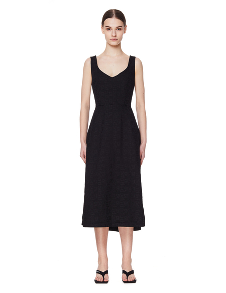 Comme des Garcons Black Logo Jacquard Dress