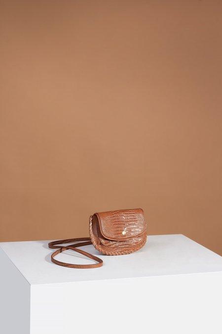 Sancia Brigitte Belt Bag - Antique Tan Lizard