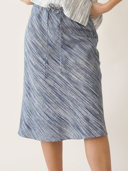 Erica Tanov hazel skirt - indigo sketch stripe