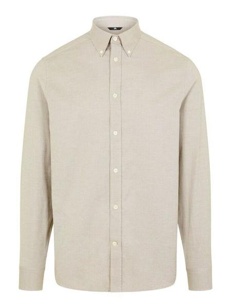 J Lindeberg Daniel BD Stretch LS Oxford Shirt - Beige