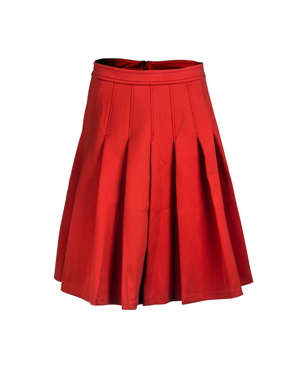 Tracy Reese - Short Red Pleat Skirt