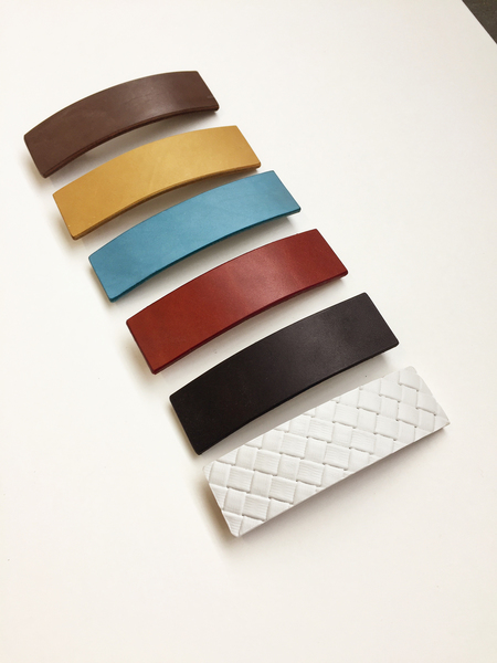 Bartleby Objects Wide Leather Barrette