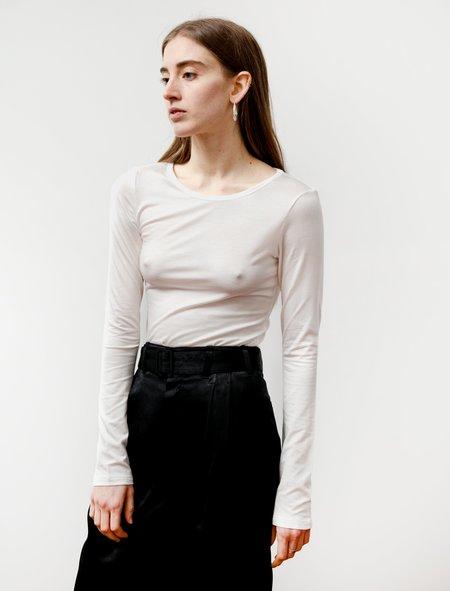 Ys by Yohji Yamamoto Slim Long Sleeve T Shirt - White