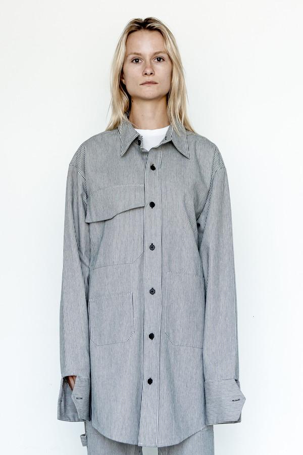 Assembly New York Cotton Railroad Stripe Chimayo Shirt