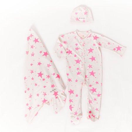 kids noé & zoë berlin stars gift set - neon pink