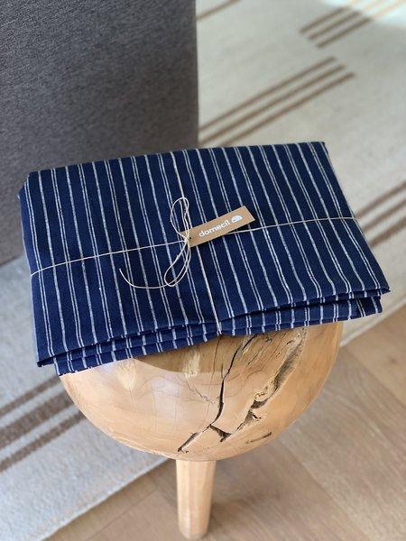 Domecíl Blue Stripe Linen Tablecloth