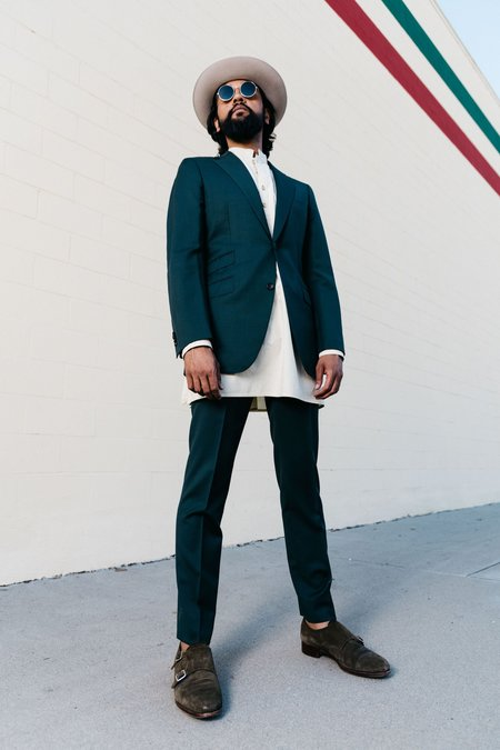 Dushyant Asthana - Garment Dyed Pop-Over Bombay Tunic in Pale Khaki