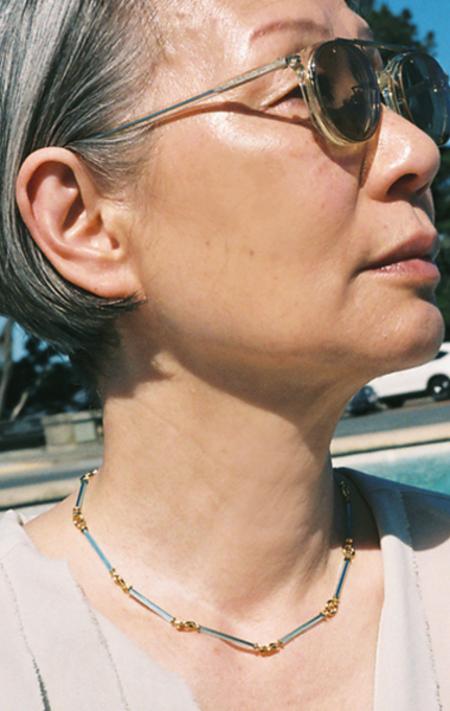 Beatriz Palacios Glass Necklace - blue