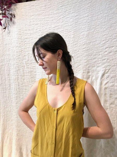 Salihah Moore Alice Earrings - Ivory/Yellow
