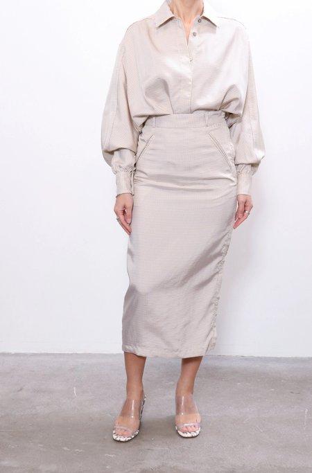Maryam Nassir Zadeh Philo Skirt - Parchment
