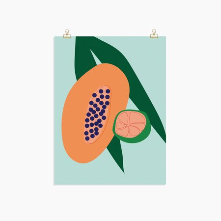 Poketo Papaya Print
