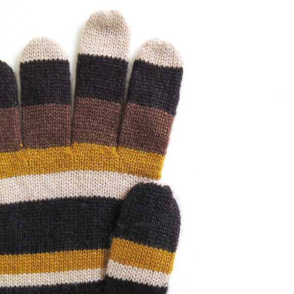 Erica Tanov cashmere striped gloves